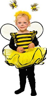 Kind Kostüme Biene (Bienchen Kleidchen Kinder Kostüm Baby Kleinkind Mädchen Biene)