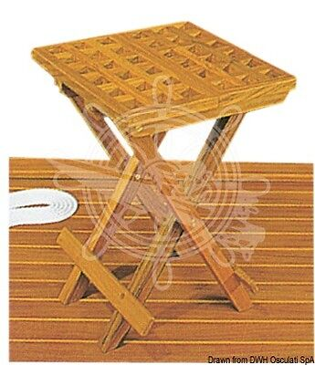 ARC Foldable Teak Stool 30x30x45