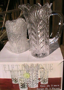 Fift avenue Crystal, four crystal glass one jug. West Island Greater Montréal image 3