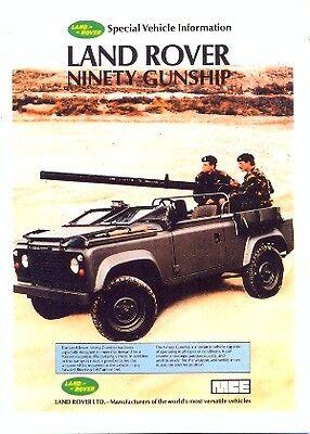 Land Rover Ninety Gunship - Modern postcard by Vintage Ad Gallery