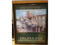 """Golden Age of Transport"" poster - De Haviland Dragon Byplane near the Forth Railway Bridge - £15.00"