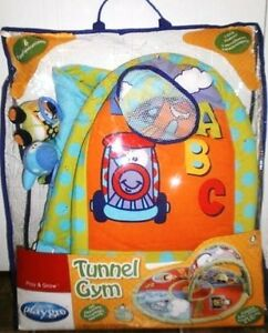 Sesame Street Play Gym & Playgro Wheely Mates Tunnel Gym