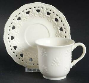 Skye McGhie Cream Lace Cup and Saucer