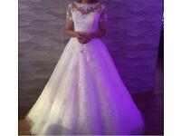 Ronald Joyce wedding dress with bespoke sleeves