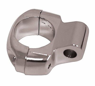 """CHROME MIRROR CLAMP MOUNTING BRACKET HARLEY LEFT OR RIGHT SIDE 1"""" BARS DIE CAST"""