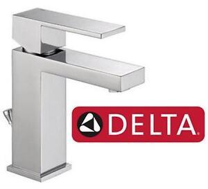 NEW DELTA SINGLE HANDLE FAUCET Bathroom Faucet in Chrome HOME IMPROVEMENT BATHROOM SINK FIXTURES