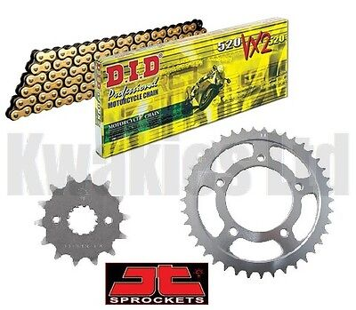 Suzuki GSXR600 W / X / Y SRAD 98-00 DID Gold & Black X-Ring Chain & JT Sprockets
