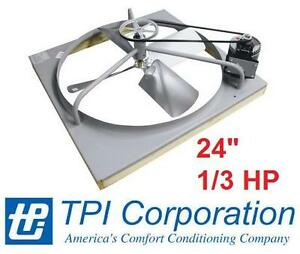 "NEW* BELT DRIVE ATTIC FAN 24"" 1/3HP - 125013730 - Standard, 24"" Size, 1/3 HP Motor, 4.8-5.7 Amps"
