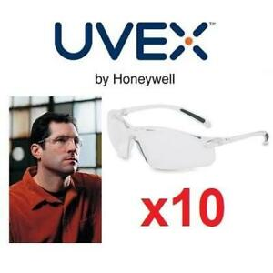 10 NEW UVEX  SAFETY EYEWEAR A700 162306349 BY HONEYWELL