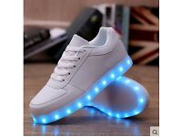 LED light up trainers shoes for kids adults NEW