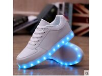LED usb rechargeable trainers yeezy shoes kids adult new