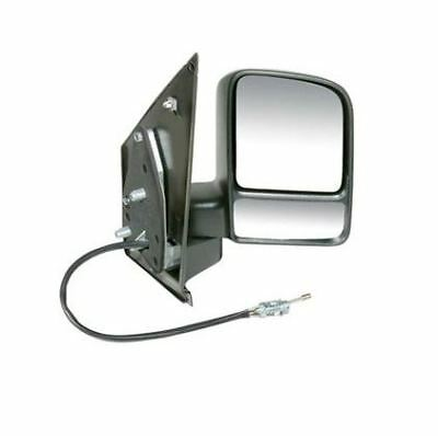 Ford Transit Connect 2002 2013 Door Mirror Manual Cable Black OS Driver Right