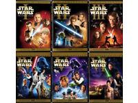 Star wars 1-6 dvd films