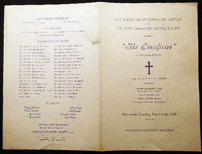 1948 South Shore Community Chorus   Port Jeff Choral Society Patchogue Concert