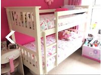 Bunk bed white wood
