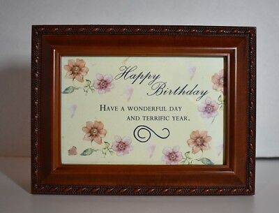 "- Cottage Grove ""Happy Birthday"" Musical Woodgrain Jewelry Box #M-BYP-2044-D4V - N"