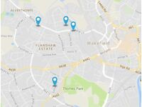 ROOMS TO RENT from £55 p.w. Wakefield