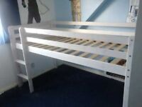 Mid sleeper single bed - white - size 90*190 - Used