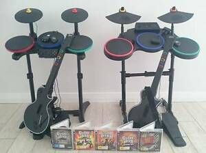 Guitar Hero/Band Hero Guitars, Drums, Games (Playstation 3) Hammond Park Cockburn Area Preview