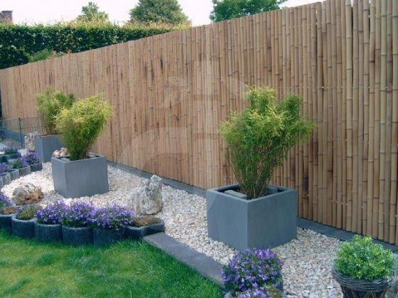 Paravento in bambù / RECINZIONE/Schermo Privacy/STECCATO Zen Nature, ca 90x180cm