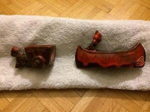 Vintage McMaster Red Pottery  Planters