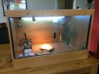 Vivarium 3ft x 2ft x2ft, beech wood. Good condition