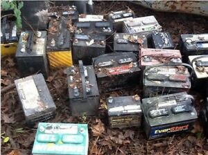 Free pick up of unwanted car batteries