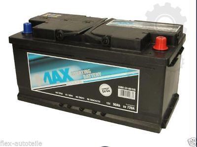 Autobatterie Starterbatterie PKW 12V 90AH Fiat Rover Ford Jaguar Citröen
