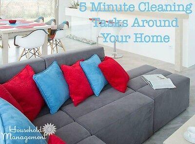 20 five minute or less cleaning tasks ebay. Black Bedroom Furniture Sets. Home Design Ideas