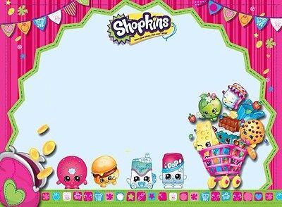 SHOPKINS shopping Shoppies Edible Happy Birthday Cake Topper Frosting 1/4 Sheet (Happy Birthday Shopping)