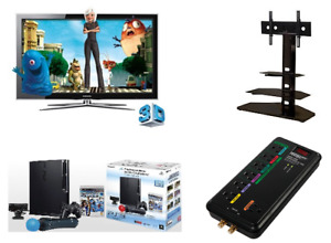 """ONLY $500!  46"""" 3D TV, Swivel Stand, PS 3, Power Centre, +"""