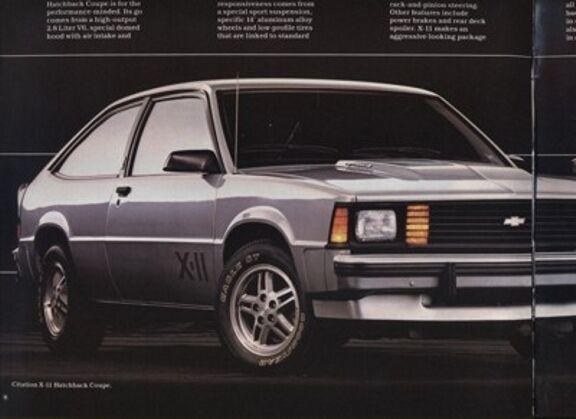 1983 Chevrolet Chevy Citation X11 Sales Brochure Book