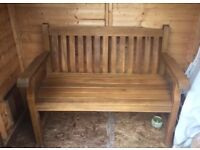 Solid Oak garden bench