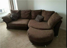 Dfs corner sofa and cuddle chair