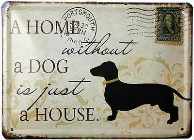 Vintage Tin sign Dog Antique metal poster for wall Home Pub Bar decor 104P11