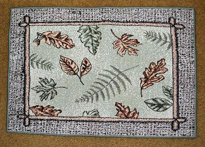 Wildwood Nature Lodge ~ Leaves & Ferns Tapestry Placemat Lodge Tapestry Placemat