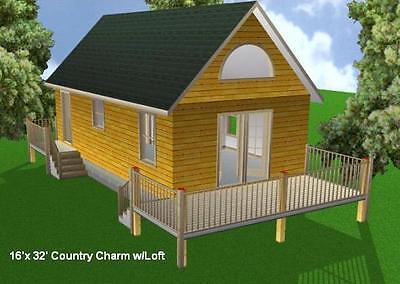 16x32 Cabin w/Loft Plans Package, Blueprints, Material List for sale  Collettsville