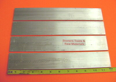 4 Pieces 14 X 2 Aluminum 6061 T6511 Flat Bar 12 Long .250 Plate Mill Stock