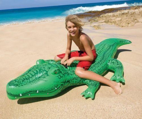 Giant 2,1 m Aufblasbar Gator Krokodil Ride Am Pool luftmatratze Strand Spielzeug