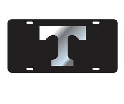 UT UNIVERSITY OF TENNESSEE Vols Black Silver Mirrored License Plate / Tag