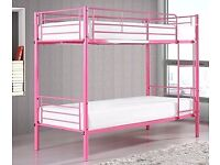 HAMPTON 3FT BUNK BED PINK