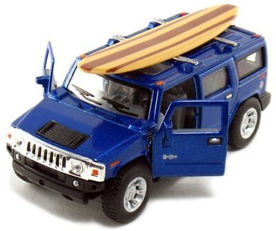 "5"" Kinsmart 2008 Hummer H2 SUV Surfboard Diecast Model Toy Truck 1:40 Blue for sale  Shipping to Canada"