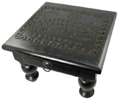 "Ouija Spirit Board Mini Wooden Altar Table w/ Drawer 9"" Tall Wicca Pagan Occult"