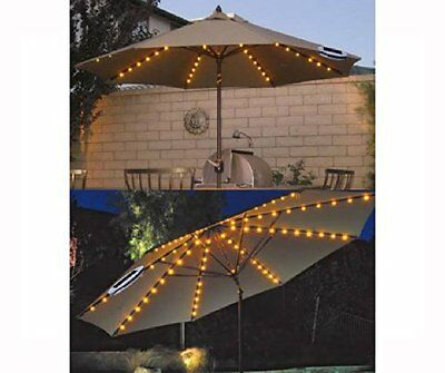 SOLAR UMBRELLA LIGHTS 72 LED STRING GARDEN PARASOL FAIRY DUAL FUNCTION OUTDOOR  Dual Function Umbrella