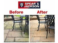 Spear and Jackson Spray &Leave Mould, Algae And Moss Remover 5 Litre + Pressure Pump Spray Gun