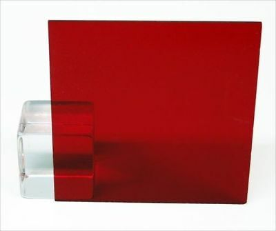 18 Transparent Dark Red Acrylic Plexiglass Sheet 12 X 12 Cast Plastic Azm