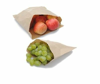 100 x The Paper Bags 7 x 7-Inch Paper Food/Sweet/Mushroom Bags / Strong bags