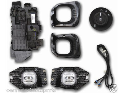 OEM 2011-2015 Ford F-250, F-350 Super Duty XL Complete Fog Light Lamp Add-On Kit