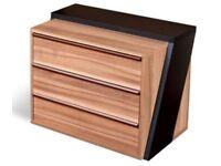 Office-Filing-cabinet-Pedestal-Under-Desk-Storage-Unit-3-drawers-castors-Walnut Office-Filing-cabi