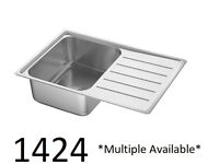 IKEA Birmingham, VATTUDALEN sink 1 bowl with drainboard stainless steel, WAS £45 #bargaincorner